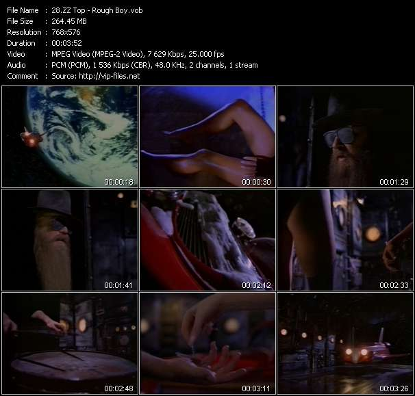 Screenshot of Music Video ZZ Top - Rough Boy