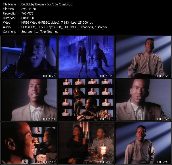 Screenshot of Music Video Bobby Brown - Don't Be Cruel