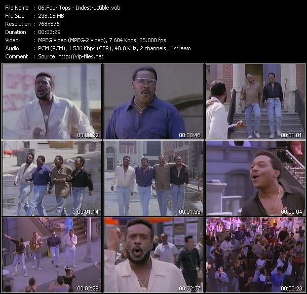 Screenshot of Music Video Four Tops - Indestructible