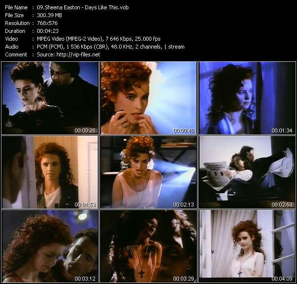 Screenshot of Music Video Sheena Easton - Days Like This