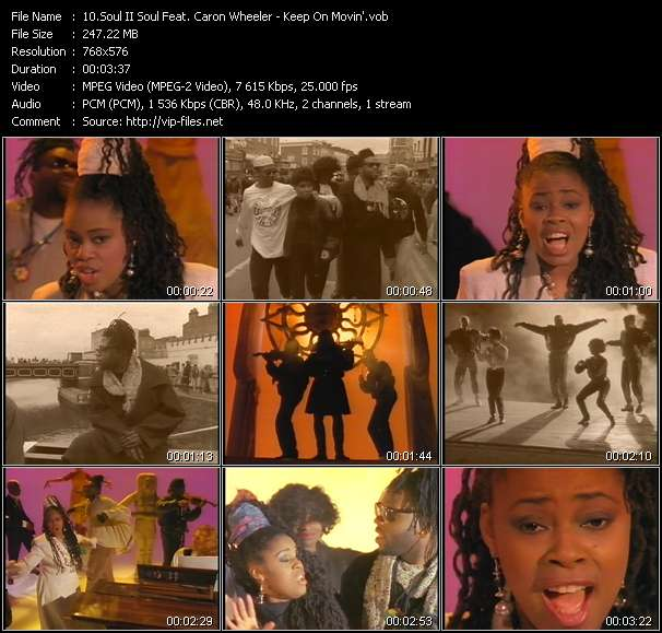 Screenshot of Music Video Soul II Soul Feat. Caron Wheeler - Keep On Movin'