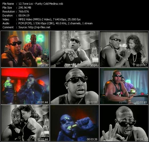 Screenshot of Music Video Tone Loc - Funky Cold Medina