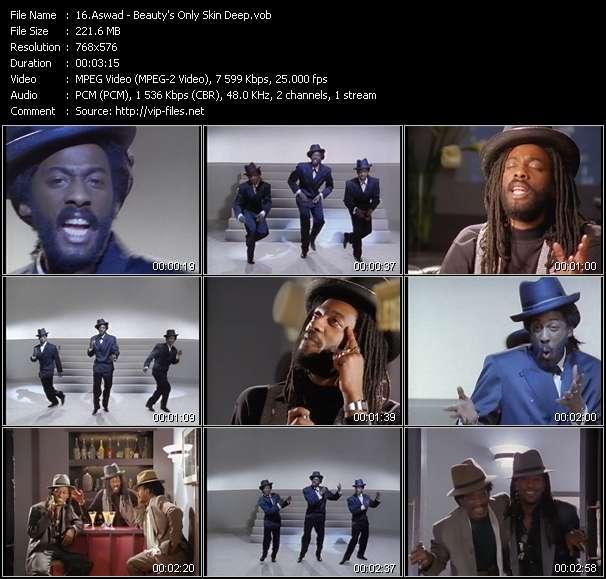 Screenshot of Music Video Aswad - Beauty's Only Skin Deep
