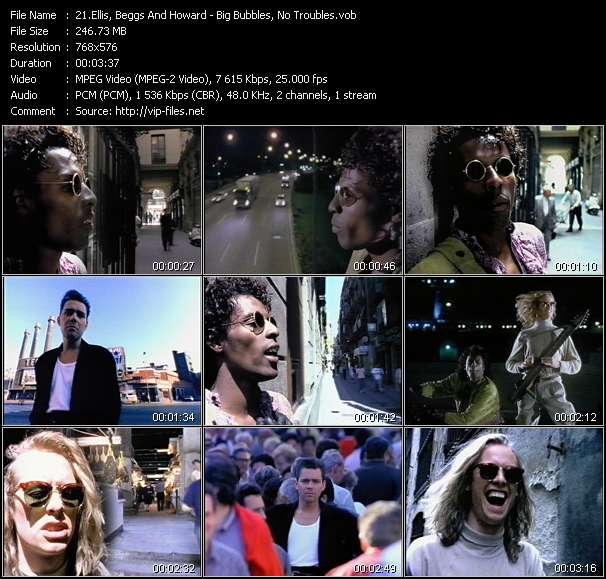 Screenshot of Music Video Ellis, Beggs And Howard - Big Bubbles, No Troubles