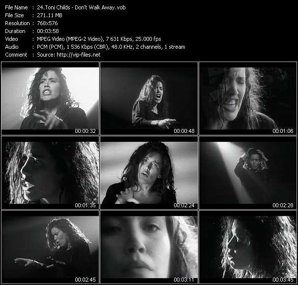 Screenshot of Music Video Toni Childs - Don't Walk Away