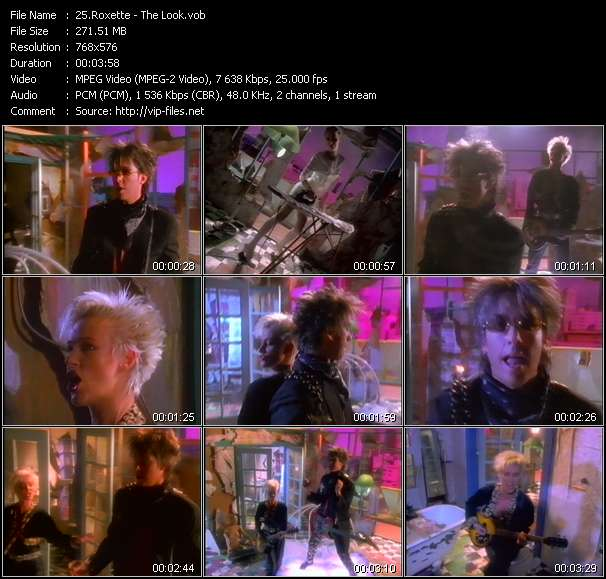 Screenshot of Music Video Roxette - The Look