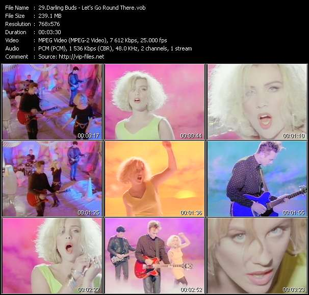 Screenshot of Music Video Darling Buds - Let's Go Round There