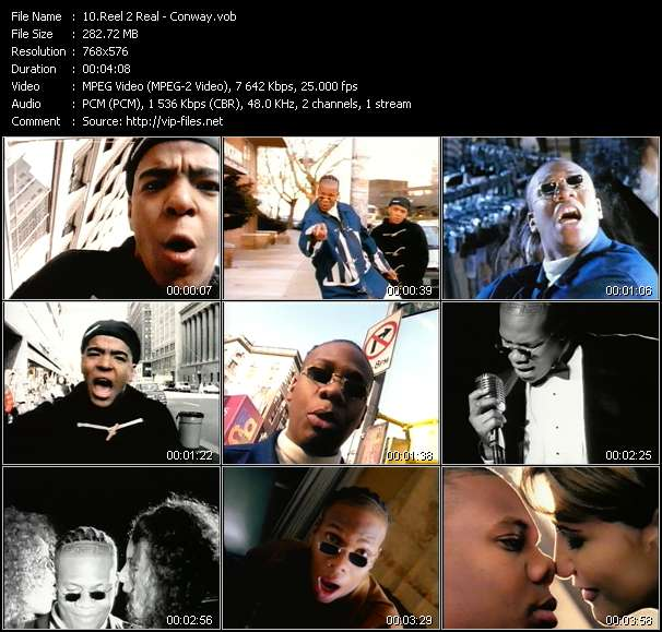 Screenshot of Music Video Reel 2 Real - Conway