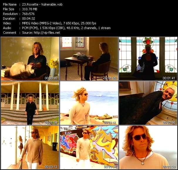 Screenshot of Music Video Roxette - Vulnerable