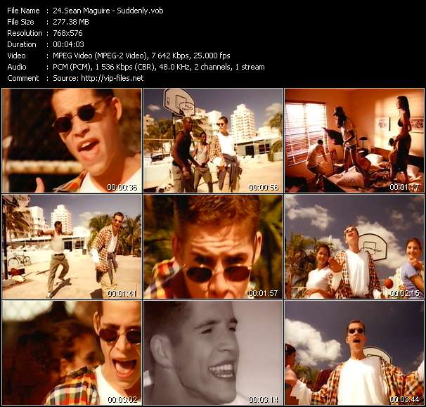 Screenshot of Music Video Sean Maguire - Suddenly