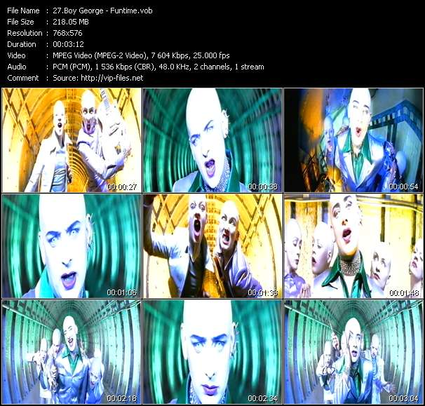 Screenshot of Music Video Boy George - Funtime