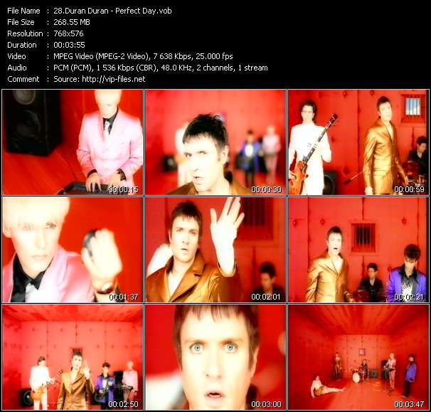 Screenshot of Music Video Duran Duran - Perfect Day