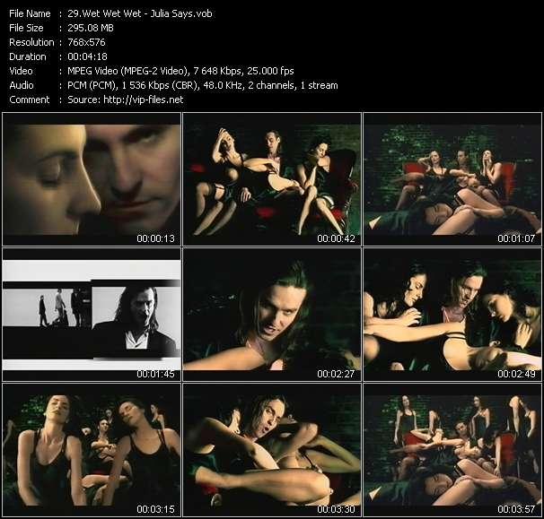 Screenshot of Music Video Wet Wet Wet - Julia Says