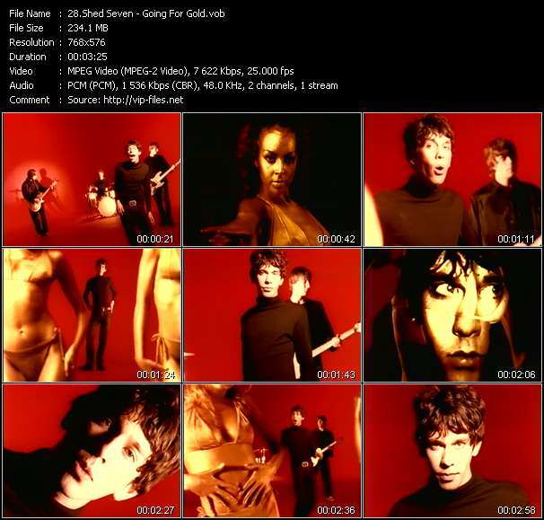 Screenshot of Music Video Shed Seven - Going For Gold