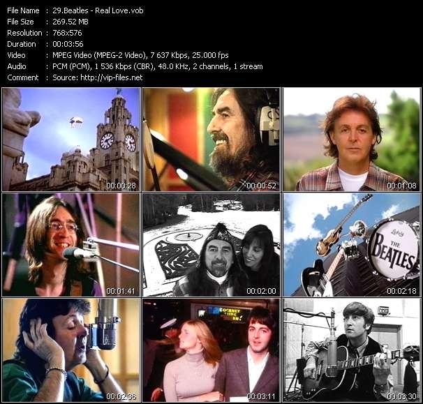 Screenshot of Music Video Beatles - Real Love
