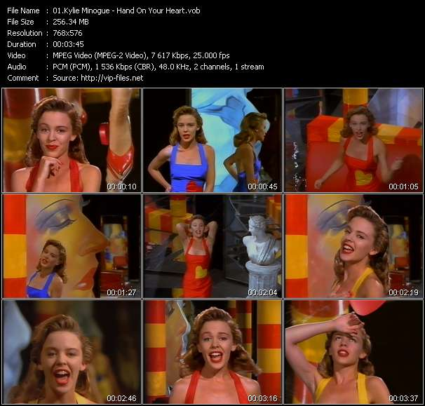 Screenshot of Music Video Kylie Minogue - Hand On Your Heart