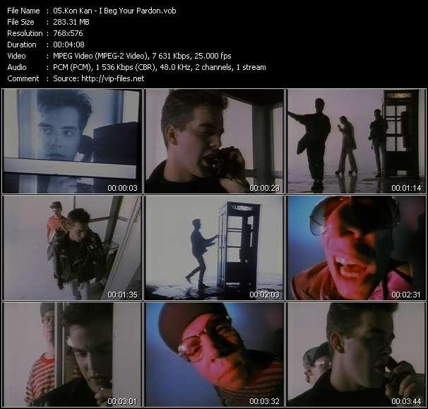 Screenshot of Music Video Kon Kan - I Beg Your Pardon