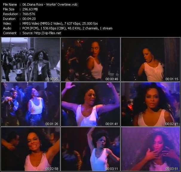 Screenshot of Music Video Diana Ross - Workin' Overtime