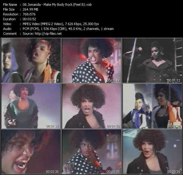 Screenshot of Music Video Jomanda - Make My Body Rock (Feel It)