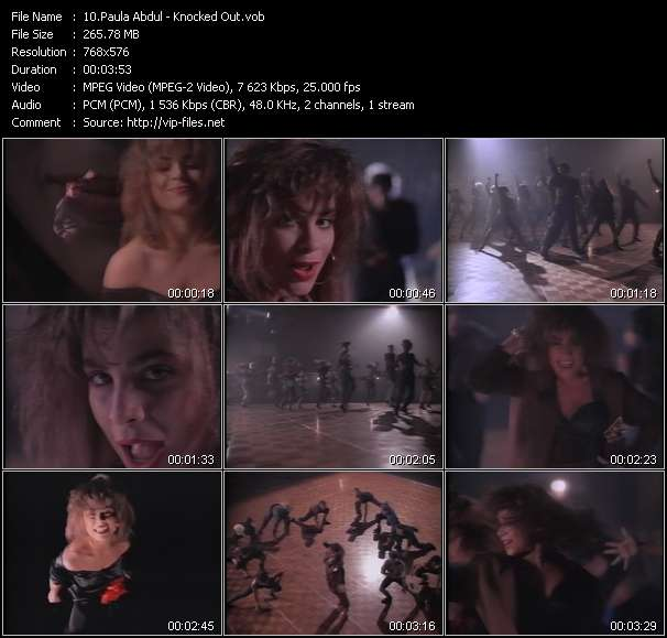 Screenshot of Music Video Paula Abdul - Knocked Out