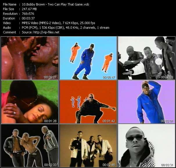 Screenshot of Music Video Bobby Brown - Two Can Play That Game
