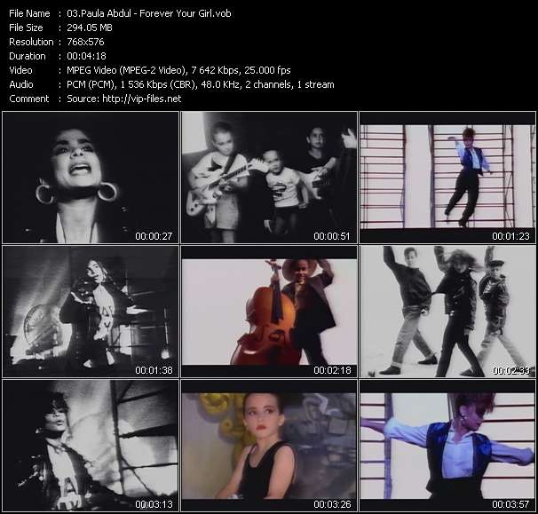 Screenshot of Music Video Paula Abdul - Forever Your Girl