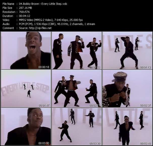 Screenshot of Music Video Bobby Brown - Every Little Step