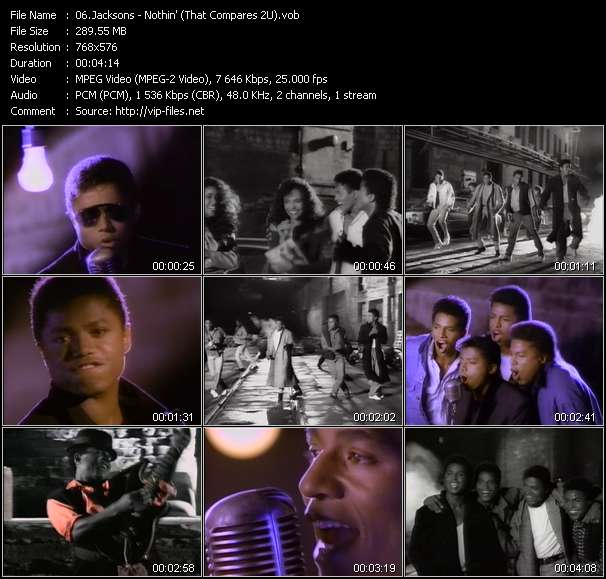 Screenshot of Music Video Jacksons - Nothin' (That Compares 2U)