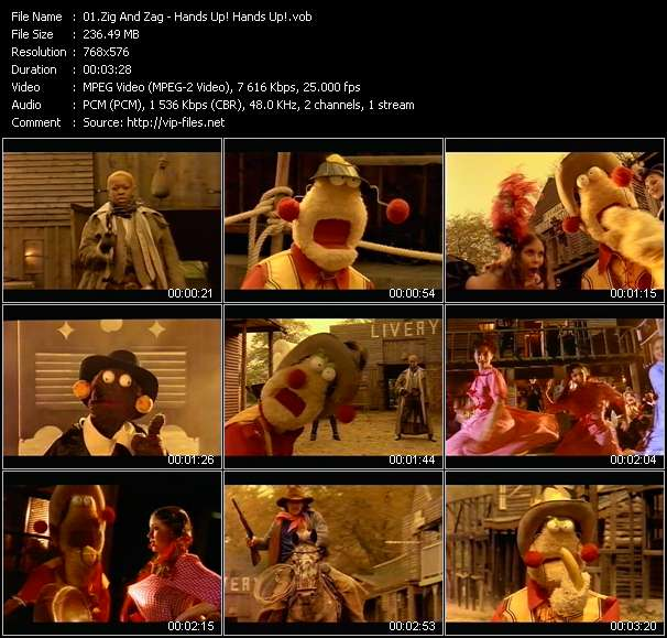 Screenshot of Music Video Zig And Zag - Hands Up! Hands Up!