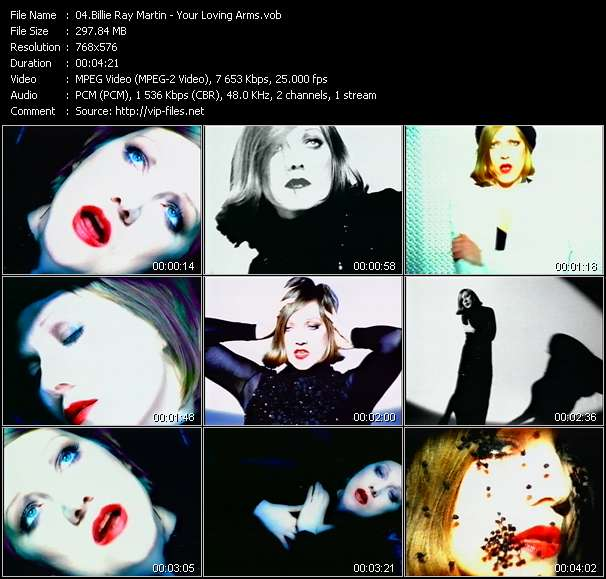 Screenshot of Music Video Billie Ray Martin - Your Loving Arms