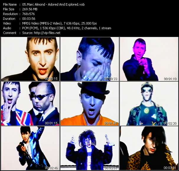 Screenshot of Music Video Marc Almond - Adored And Explored