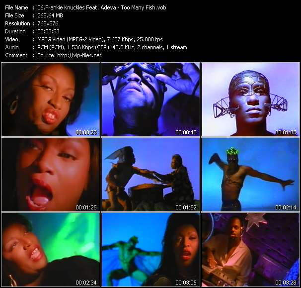 Screenshot of Music Video Frankie Knuckles Feat. Adeva - Too Many Fish