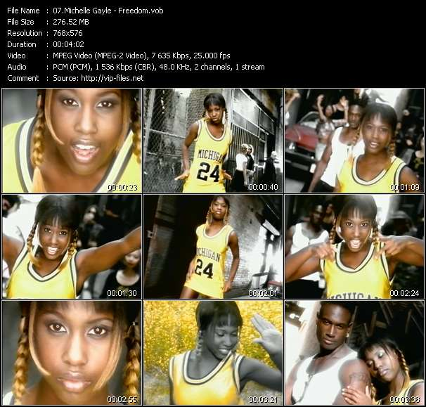 Screenshot of Music Video Michelle Gayle - Freedom