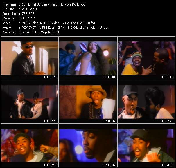 Screenshot of Music Video Montell Jordan - This Is How We Do It