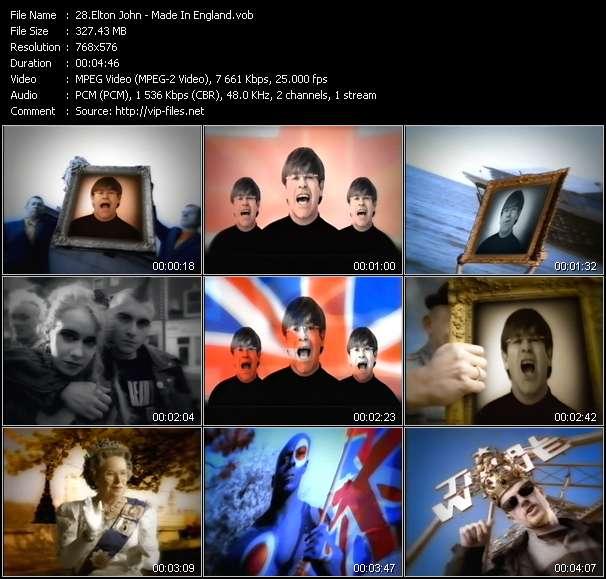 Screenshot of Music Video Elton John - Made In England