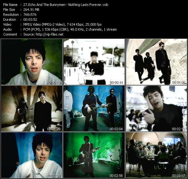 Screenshot of Music Video Echo And The Bunnymen - Nothing Lasts Forever