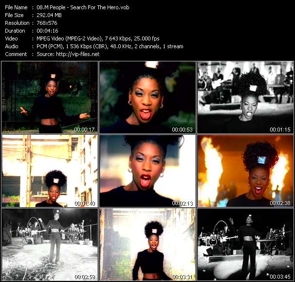 Screenshot of Music Video M People - Search For The Hero