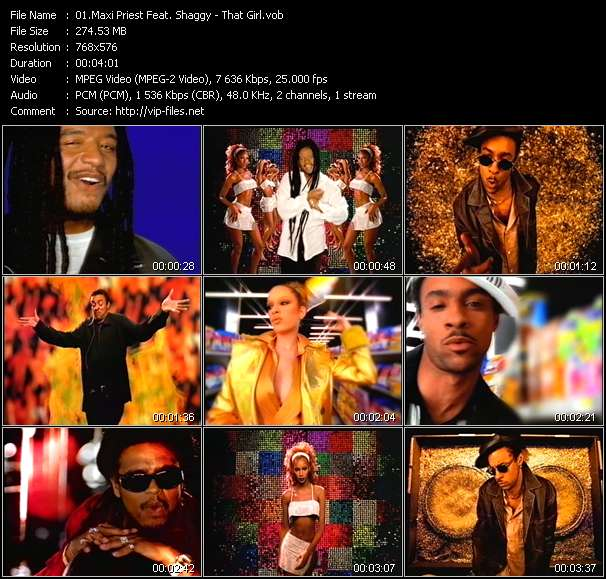 Screenshot of Music Video Maxi Priest Feat. Shaggy - That Girl