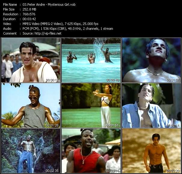 Screenshot of Music Video Peter Andre - Mysterious Girl