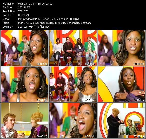 Screenshot of Music Video Bizarre Inc. - Surprise