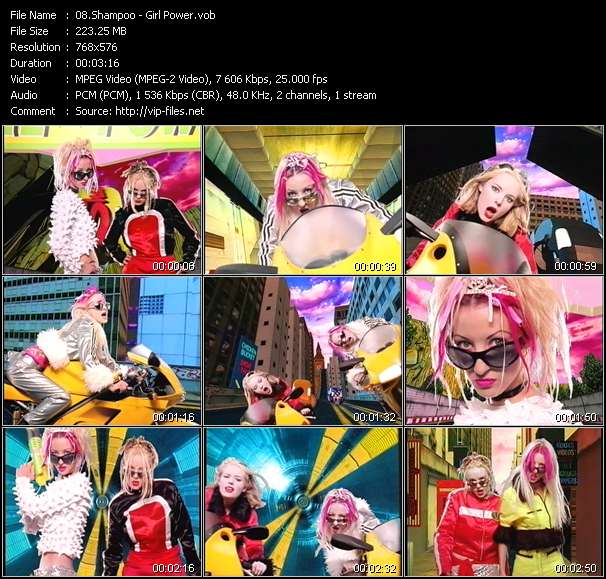Screenshot of Music Video Shampoo - Girl Power