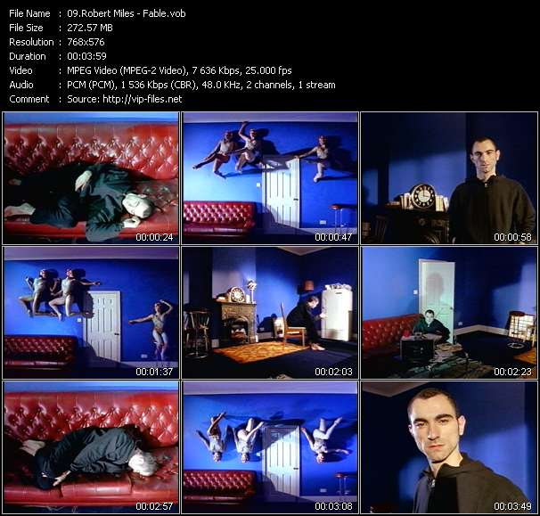 Screenshot of Music Video Robert Miles - Fable