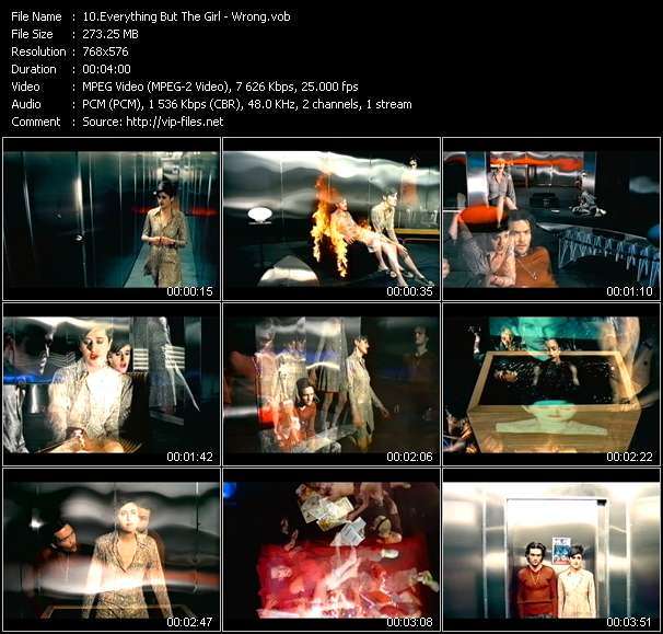 Screenshot of Music Video Everything But The Girl - Wrong