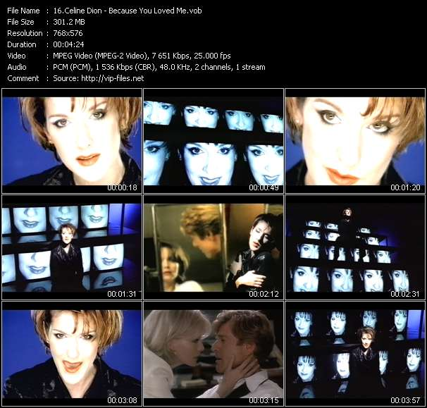 Celine Dion video vob