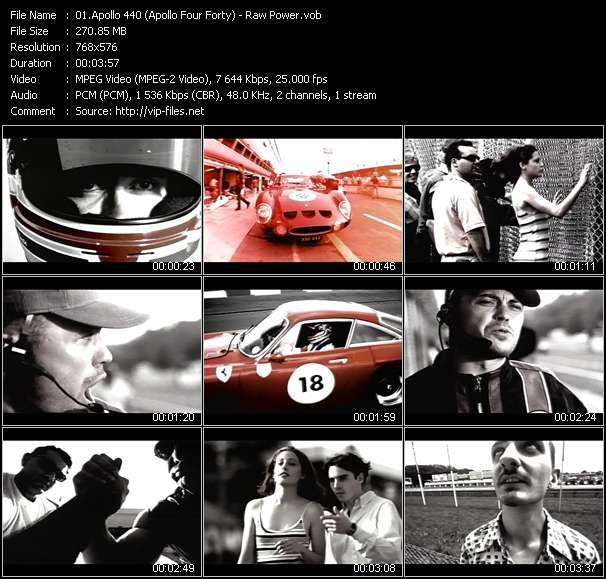Screenshot of Music Video Apollo 440 (Apollo Four Forty) - Raw Power
