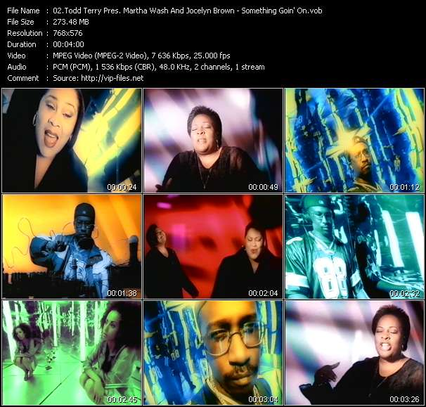 Screenshot of Music Video Todd Terry Pres. Martha Wash And Jocelyn Brown - Something Goin' On