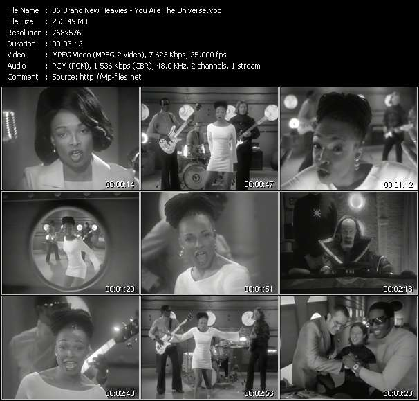 Screenshot of Music Video Brand New Heavies - You Are The Universe