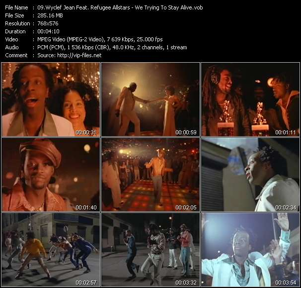 Screenshot of Music Video Wyclef Jean Feat. Refugee Allstars - We Trying To Stay Alive