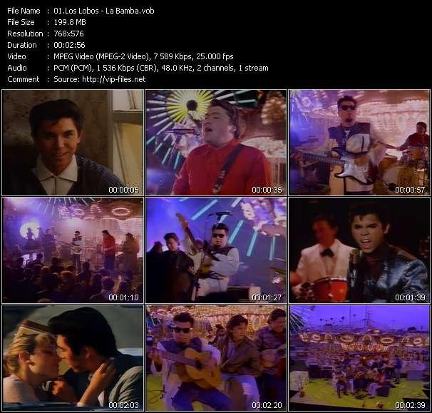 Los Lobos clips musicaux vob