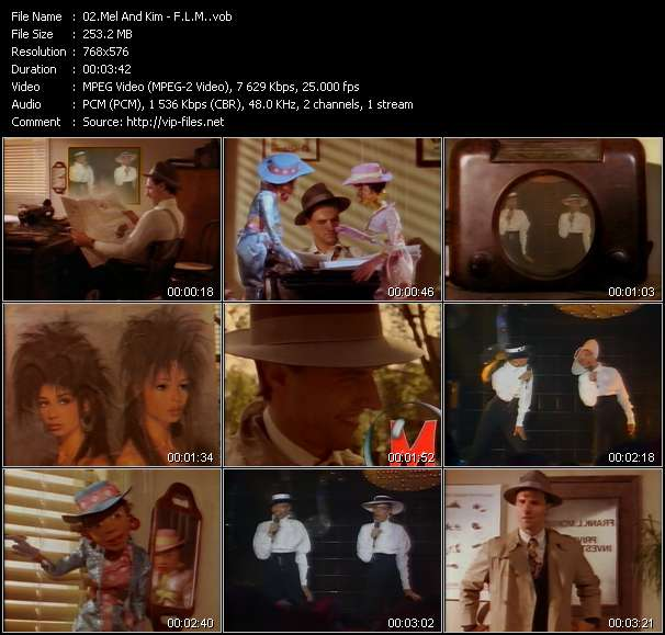 Screenshot of Music Video Mel And Kim - F.L.M.